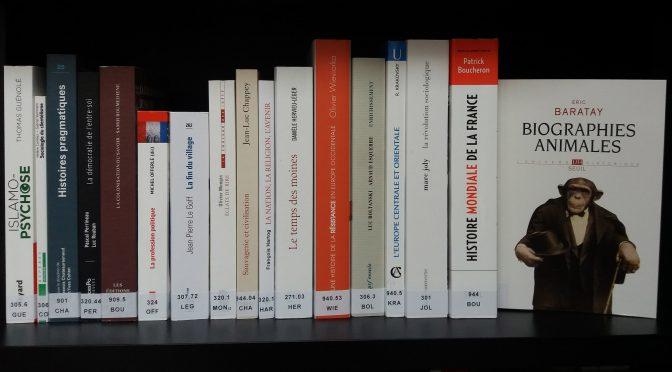 Acquisitions de la bibliothèque – septembre 2017