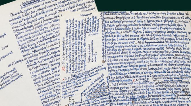 CFP: The Wording of Thoughts: Philosophy From the Standpoint of Its Manuscripts and Archives